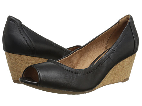 Clarks - Burmese Art (Black Leather) Women's Wedge Shoes