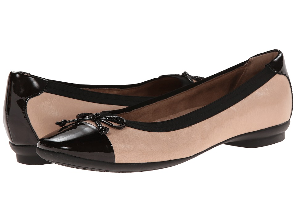 Clarks - Candra Glow (Nude Leather) Women's Dress Flat Shoes