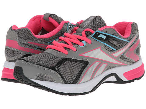 Reebok - Quickchase Run (Flat Grey/Gravel/Solar Pink/Blue Pool/Silver Metallic/White) Women's Running Shoes