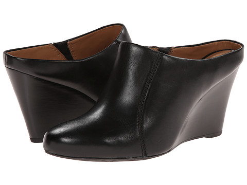Clarks - Santee Charm (Black Leather) Women's Wedge Shoes