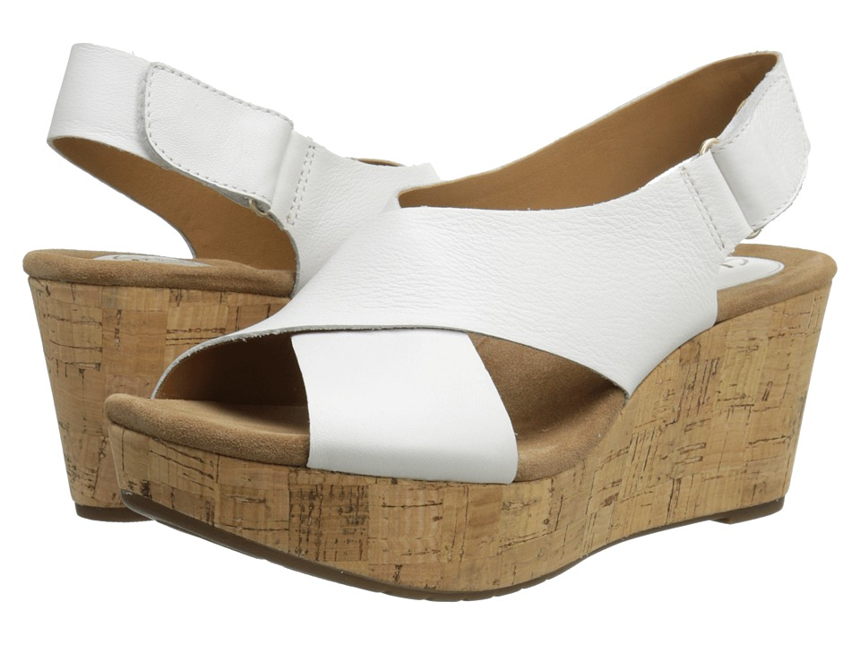 Clarks Caslynn Shae (White Leather) Women