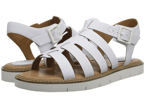 Clarks - Lydie Kona (White Leather) Women's Sandals