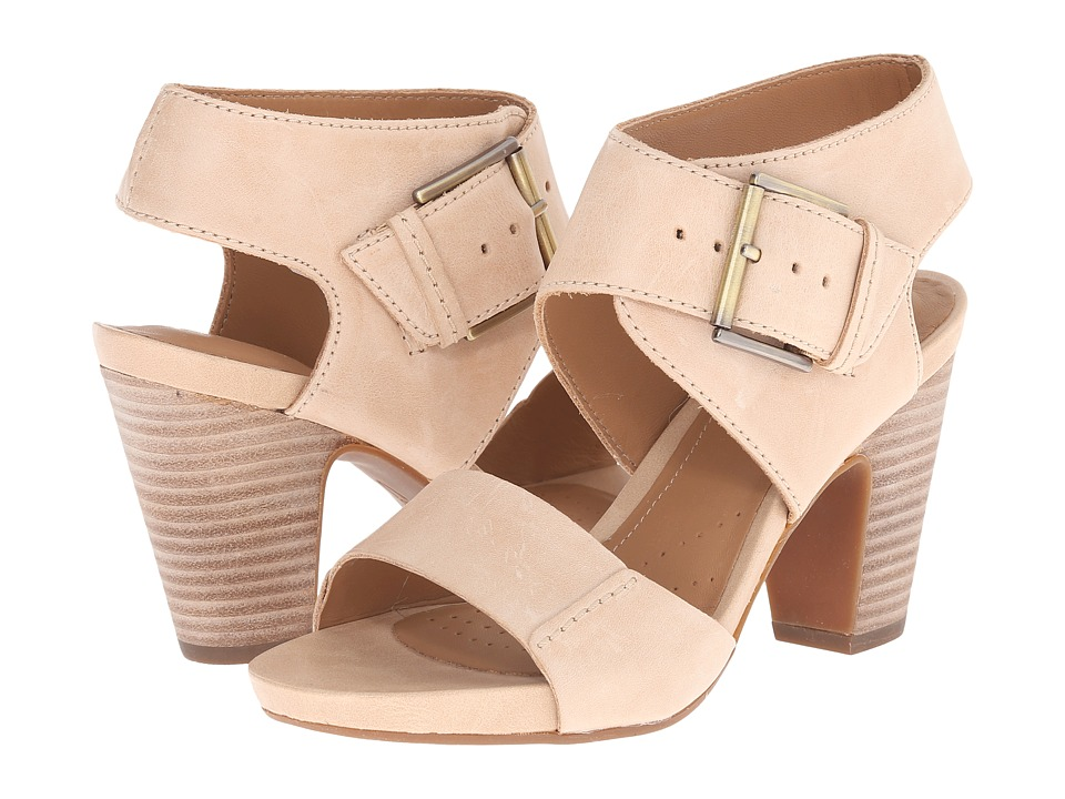 Clarks - Okena Mod (Beige Leather) High Heels