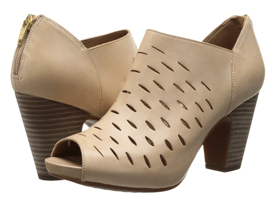 Clarks - Okena Posh (Beige Leather) High Heels