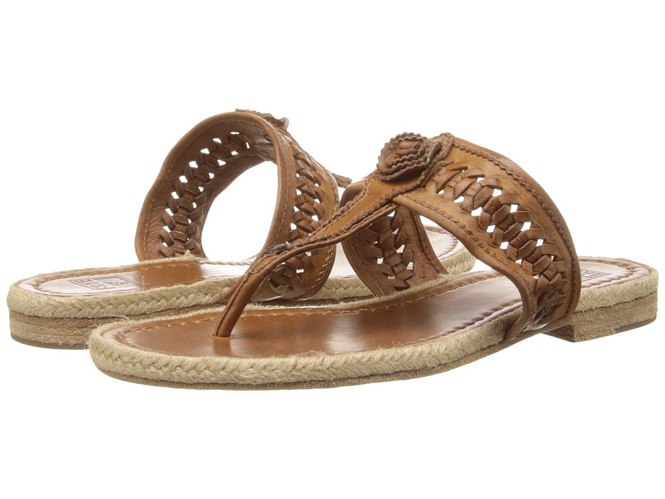 Frye - Cleo Concho Thong (Brown Smooth Vintage Leather) Women