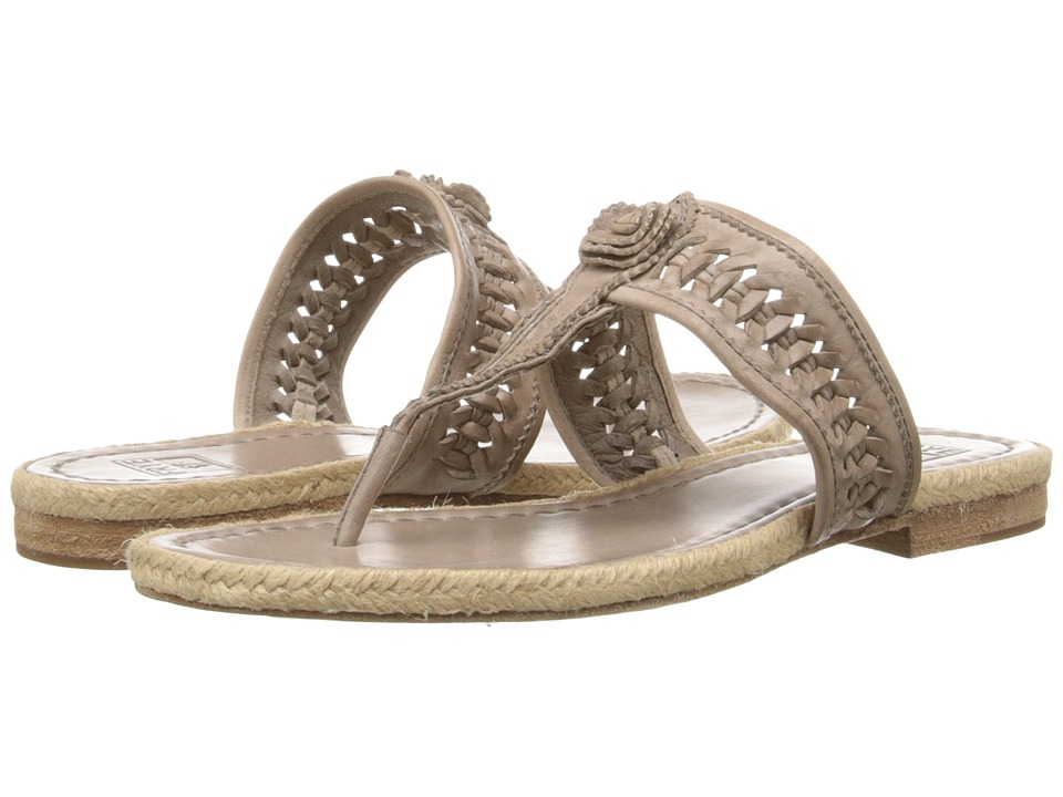 Frye - Cleo Concho Thong (Grey Smooth Vintage Leather) Women's Sandals