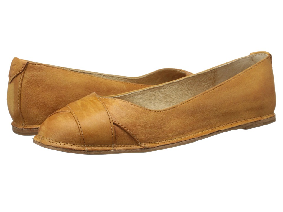 Frye - Ember Cross Ballet (Camel Sunwash Nubuck) Women's Flat Shoes