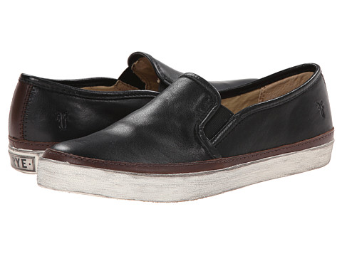 Frye - Gavin Slip-On (Black Soft Vintage Leather) Women's Slip on Shoes