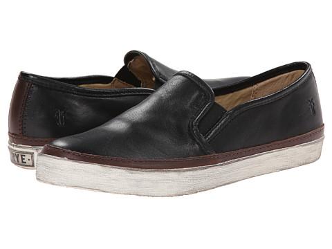 Frye - Gavin Slip-On (Black Soft Vintage Leather) Women's Slip on Shoes
