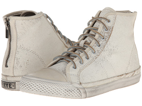 Frye - Greene High Back Zip (Off White Painted Canvas) Women's Shoes