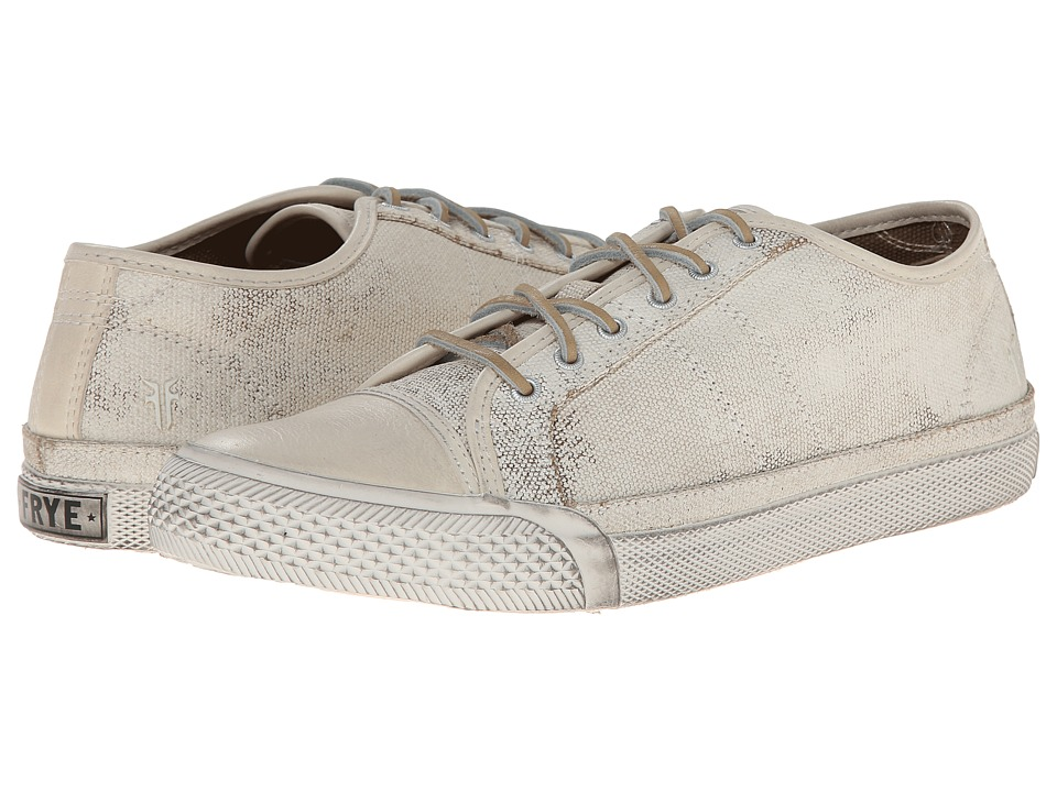 Frye - Greene Low Lace (Off White Painted Canvas) Women's Lace up casual Shoes