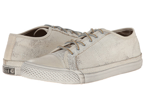 Frye - Greene Low Lace (Off White Painted Canvas) Women