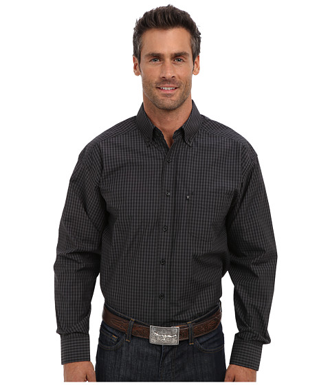 Tuf Cooper by Panhandle - L/S Button Down Shirt (Black) Men