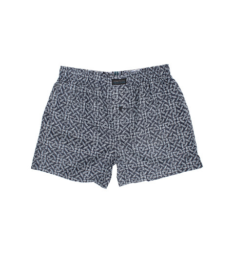 Kenneth Cole Reaction - Geo Weave Woven Boxers (Blue Weave) Men's Underwear