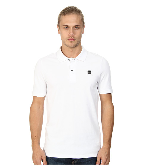 G-Star - Neoth S/S Polo (White) Men's Short Sleeve Pullover