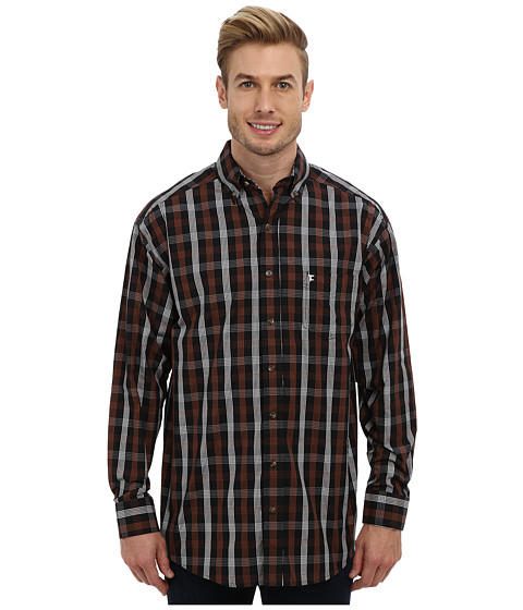 Tuf Cooper by Panhandle - L/S Plaid Button Down Shirt (Brown) Men