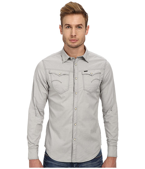 G-Star - Arc 3D L/S Shirt (Core Winter Grey) Men's Long Sleeve Button Up