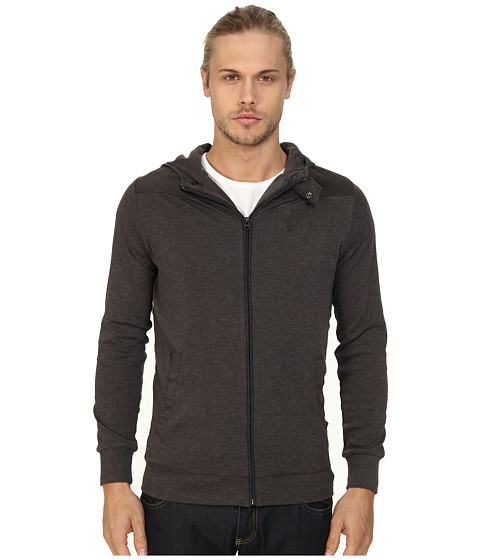 G-Star - Art Hooded Vest L/S (Raven) Men's Sweatshirt