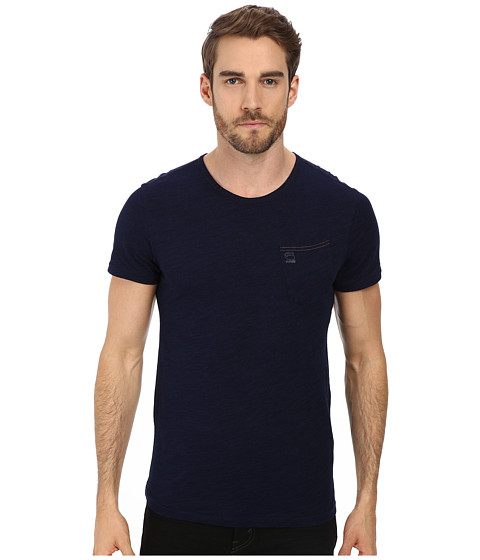 G-Star - Indigo R S/S Tee (Dark Aged) Men's T Shirt