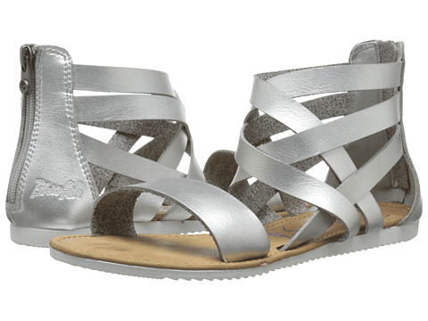 Blowfish - Ella (Silver Dyecut PU) Women's Sandals