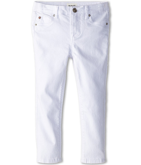 Hudson Kids - Let's Dance Skinny Jean in White Shine (Toddler) (White Shine) Girl's Jeans