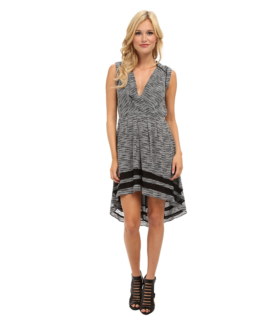 Aryn K - High-Low Printed Dress (Black/White) Women's Dress