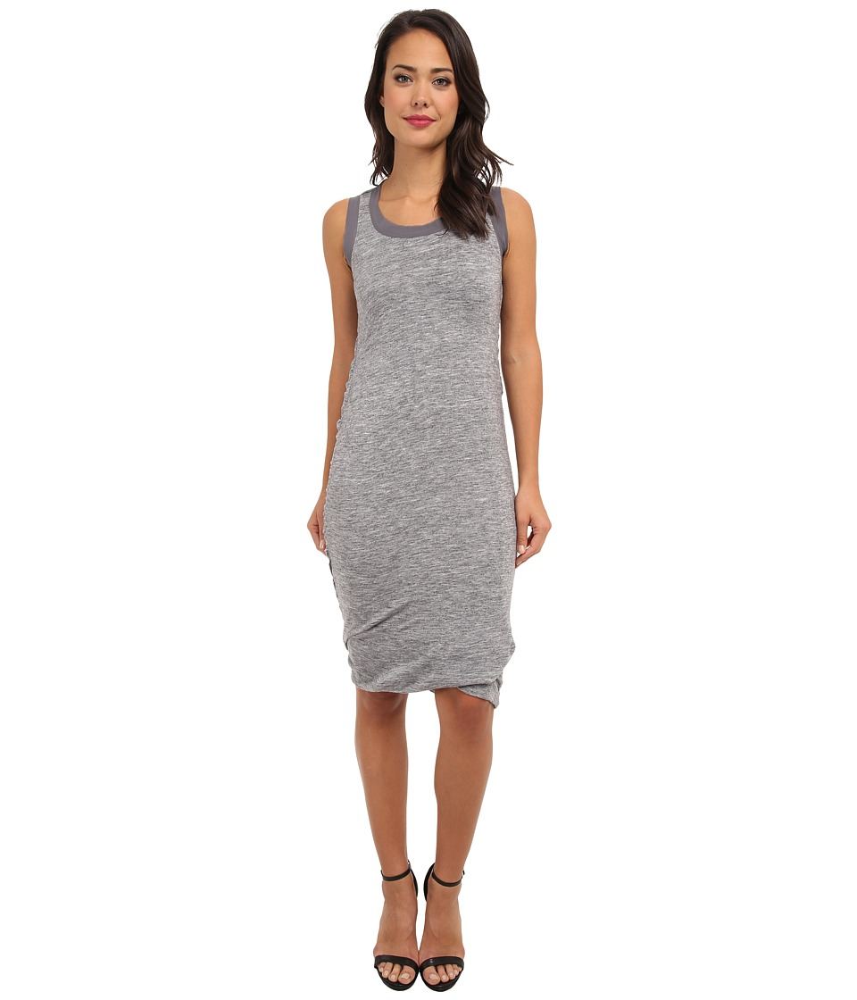 Aryn K - Knit Midi Dress (Grey) Women's Dress