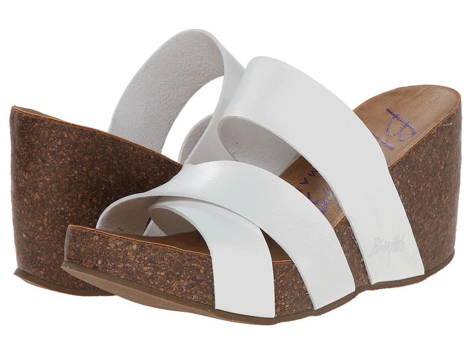 Blowfish - Hiro (White Dyecut PU) Women's Wedge Shoes