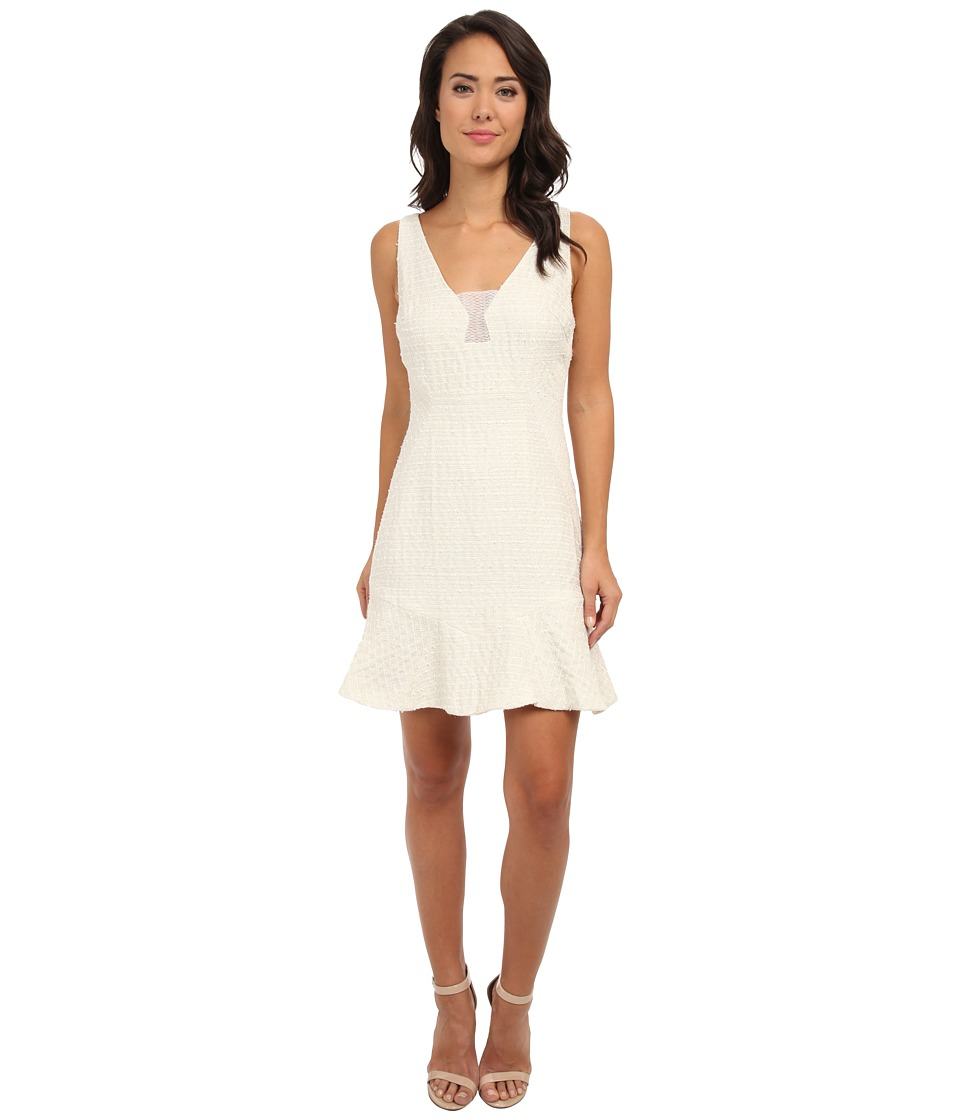 Aryn K - Knit Flar Dress (Ivory) Women's Dress