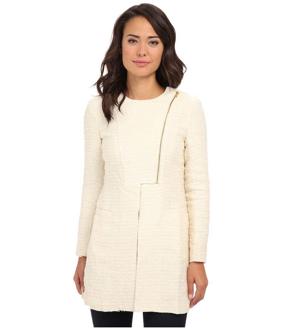 Aryn K - Zip Jacket (Ivory) Women's Coat