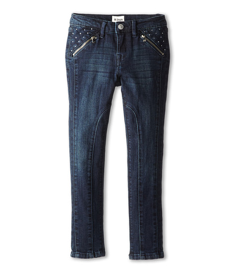 Hudson Kids - Starman Five-Pocket Skinny Jean with Zipper Pocket and Seam Details Down The Front in Blue (Little Kids) (Blue) Girl's Jeans