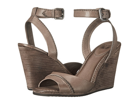 Frye - Patricia Wedge 2 Piece (Grey Soft Vintage Leather) Women