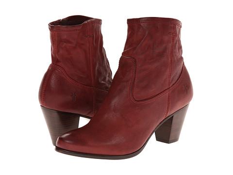Frye - Paulina Artisan Zip (Bordeaux Washed Vintage) Cowboy Boots