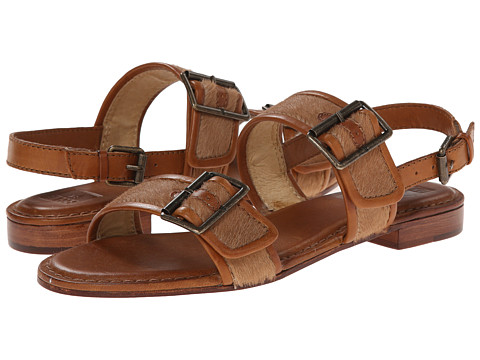 Frye - Phillip Buckles (Tan Haircalf) Women's Sandals