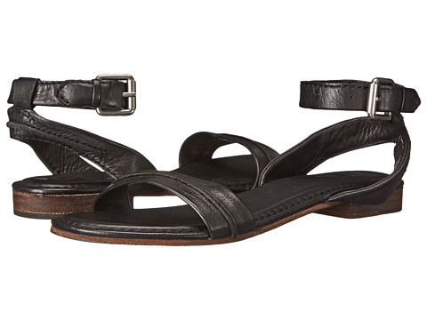 Frye - Phillip Seam Ankle (Black Soft Vintage Leather) Women's Sandals