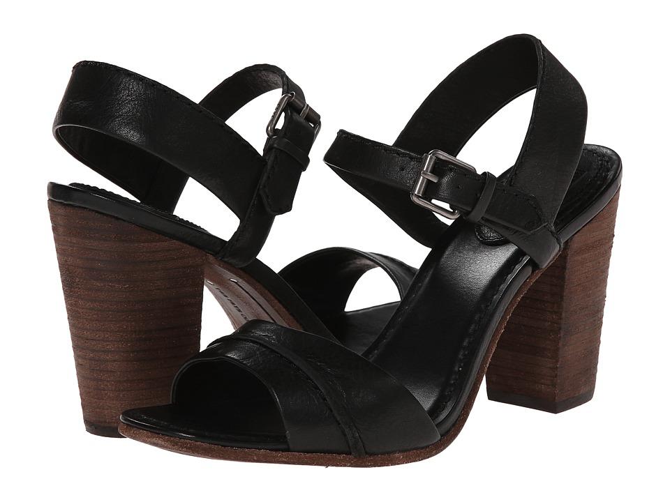 Frye - Portia Seam 2 Piece (Black Soft Vintage Leather) Women's Dress Sandals