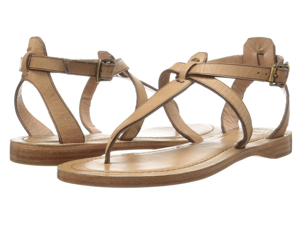 Frye - Rachel T Sandal (Nude Veg Tan) Women's Sandals