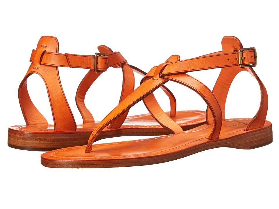 Frye - Rachel T Sandal (Orange Veg Tan) Women's Sandals
