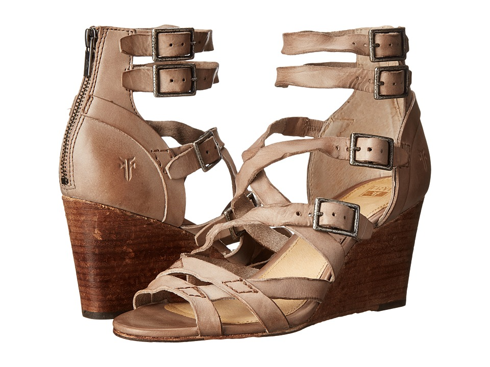 Frye - Rain Strappy Wedge (Grey Washed Smooth Vintage) Women's Wedge Shoes