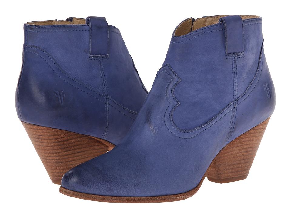Frye - Reina Bootie (Blue Buffed Nubuck) Cowboy Boots