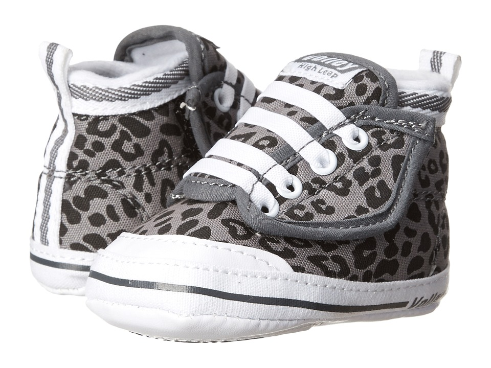 Volley Australia - My First Volley High Leap (Infant/Toddler) (Charcoal/Black Leopard) Women's Shoes