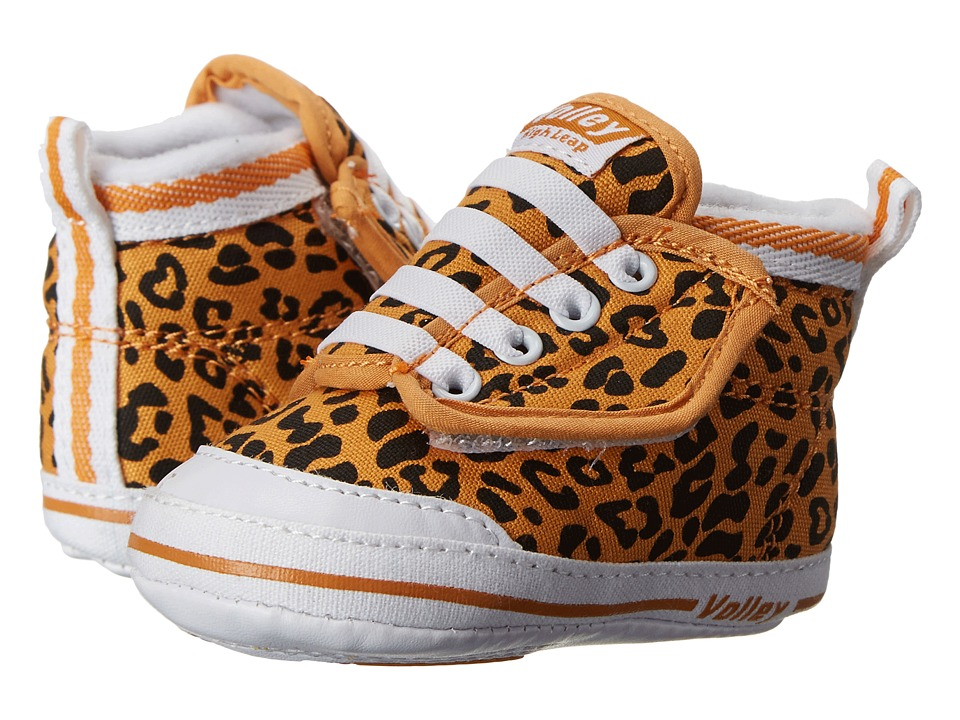 Volley Australia - My First Volley High Leap (Infant/Toddler) (Butterscotch/Black Leopard) Women's Shoes