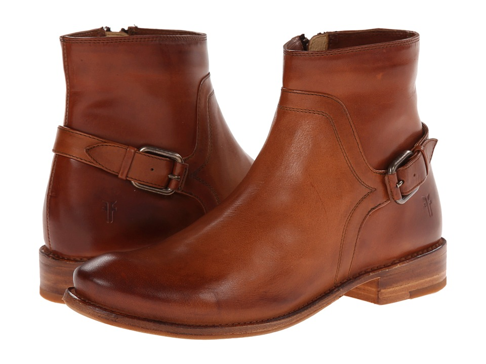 Frye - Shirley Shield Short (Cognac Smooth Vintage Leather) Cowboy Boots