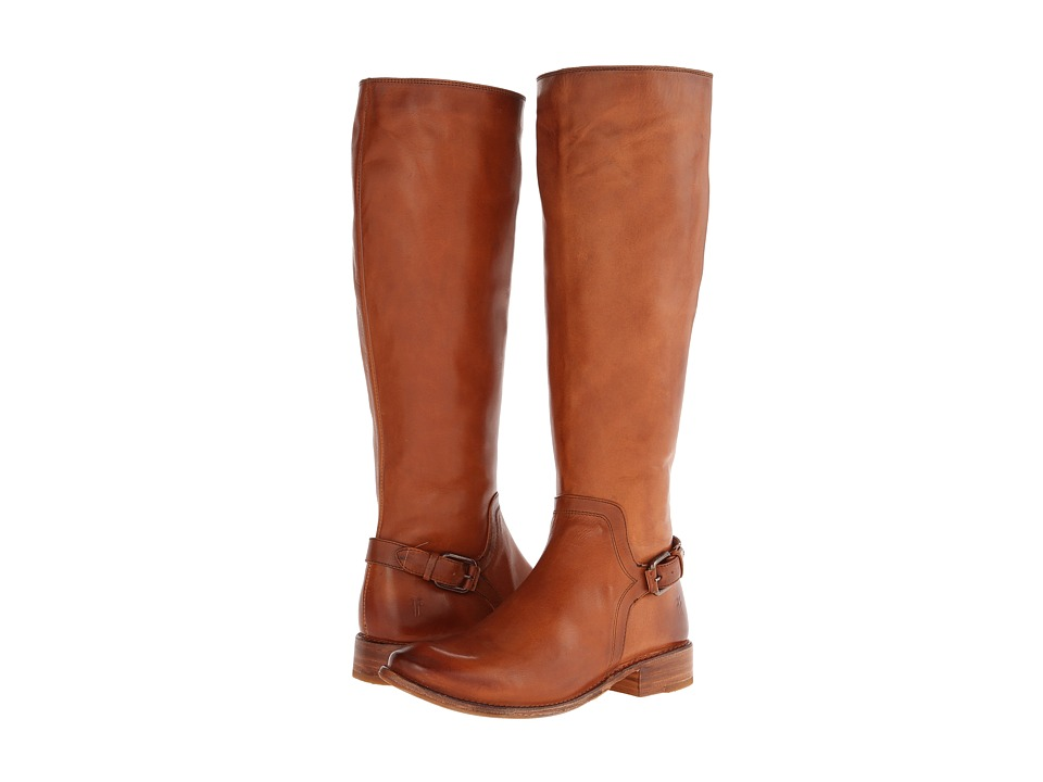Frye - Shirley Shield Tall (Cognac Smooth Vintage Leather) Cowboy Boots