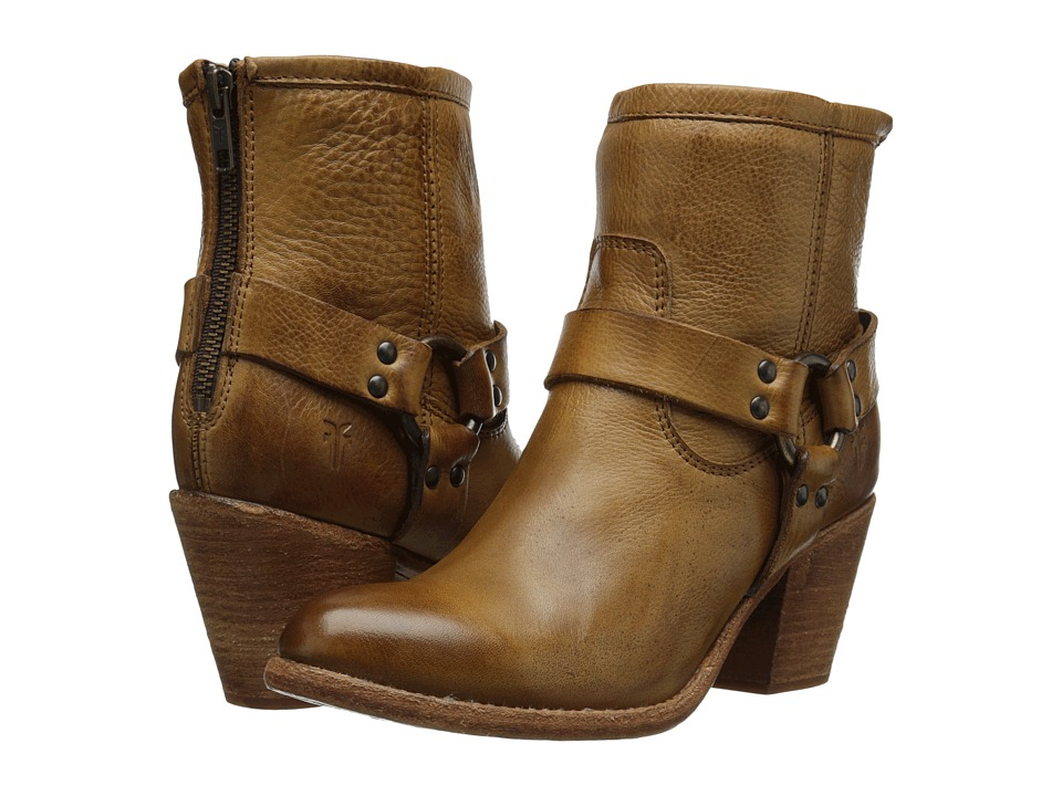 Frye - Tabitha Harness Short (Camel Soft Vintage Leather) Cowboy Boots