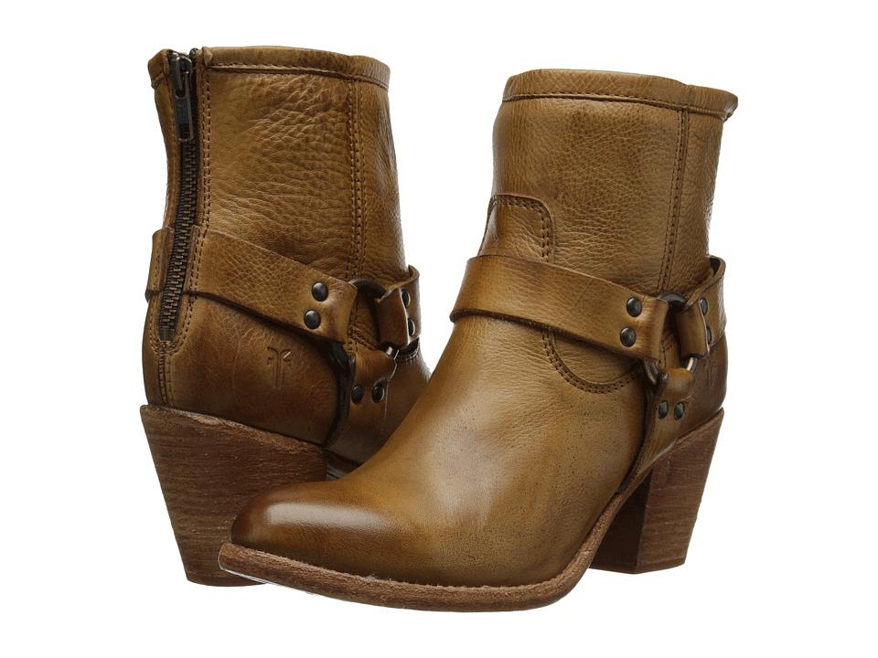 Frye - Tabitha Harness Short (Camel Soft Vintage Leather) Cowboy Boots