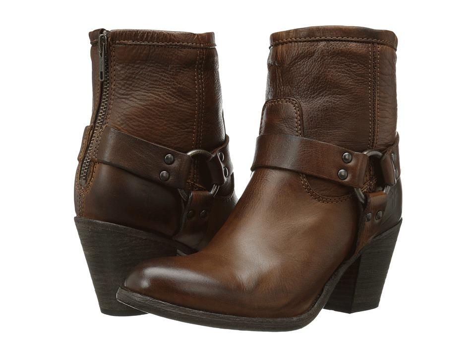 Frye - Tabitha Harness Short (Cognac Soft Vintage Leather) Cowboy Boots