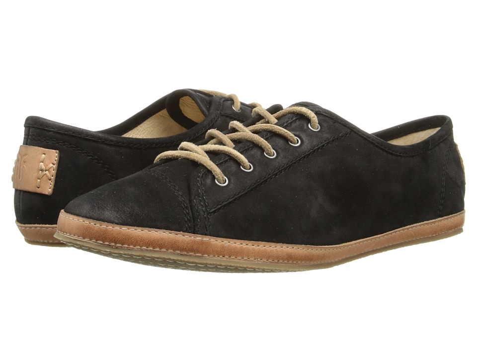 Frye - Tegan Low Lace (Black Buffed Nubuck) Women's Shoes