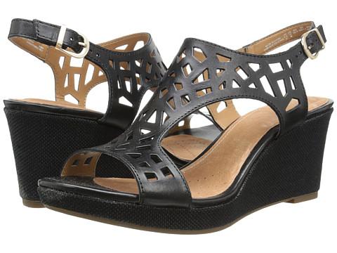 Clarks - Palmdale Sands (Black Leather) Women