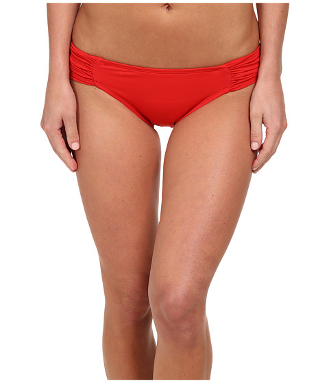 La Blanca - Core Solid Side Shirred Hipster (Red) Women